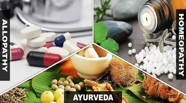 Allopathy, Homeopathy and Ayurveda