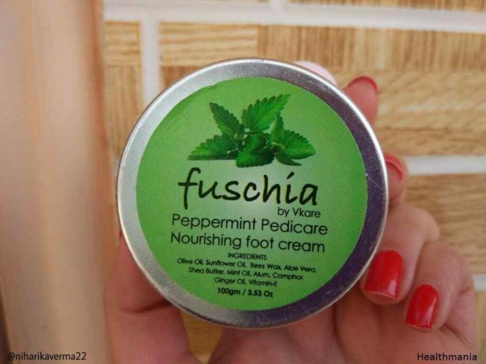 Fuschia Peppermint Pedicare Cream