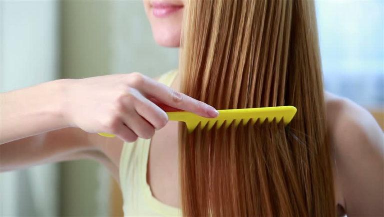 girl combing