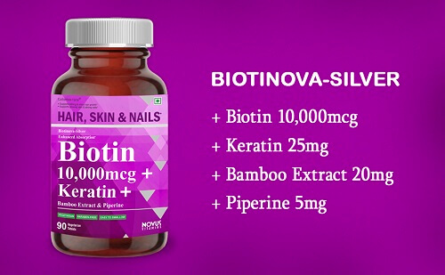 Carbamide Forte Biotin 10,000 mcg with Keratin and Bamboo Extract & Piperine