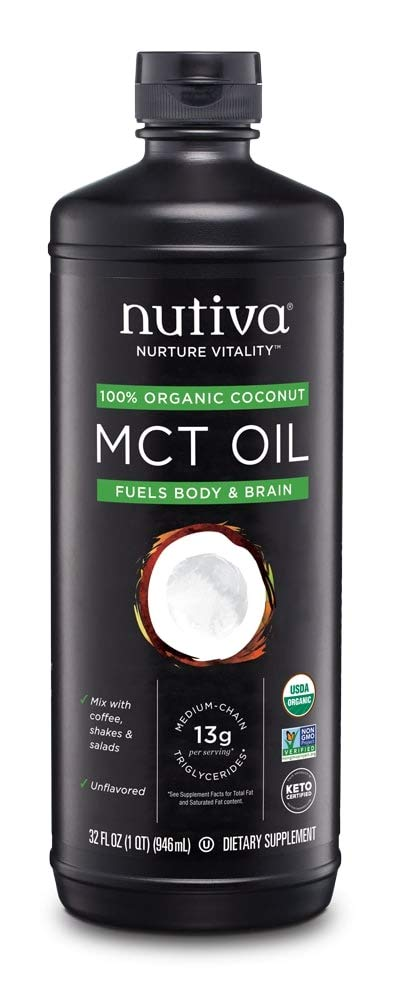 Nutiva Organic MCT Oil, Keto & Paleo Friendly