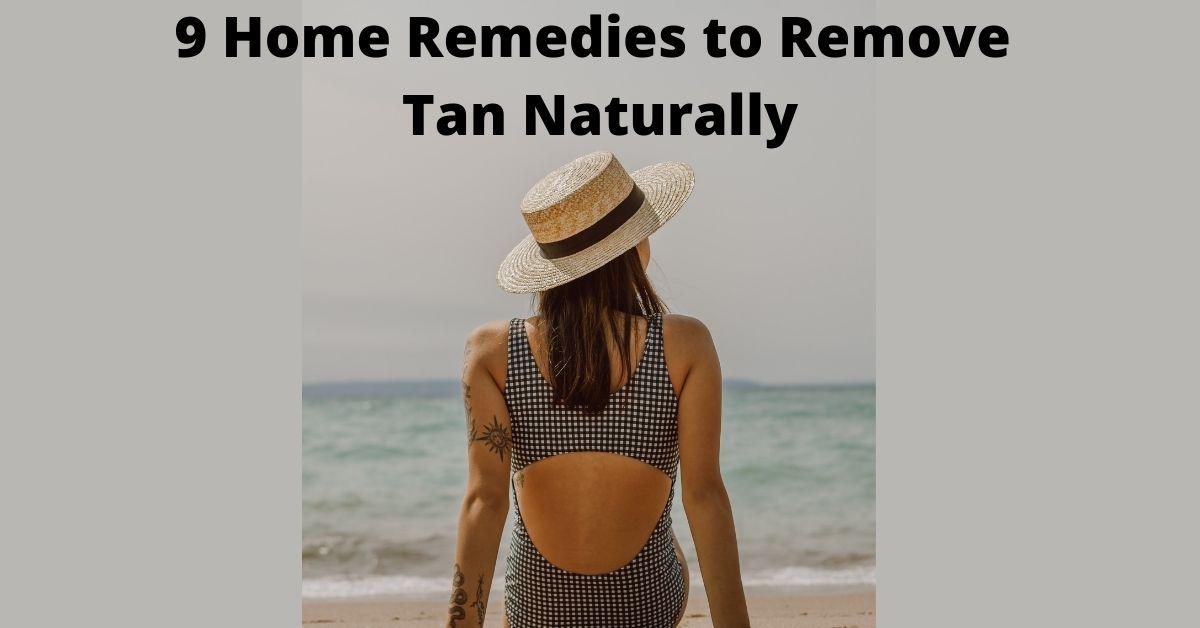 remove tan naturally